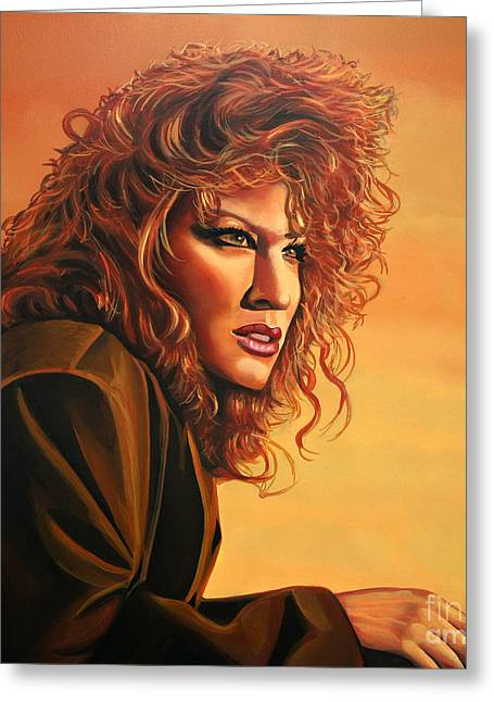 Bette Midler Greeting Card by Paul Meijering