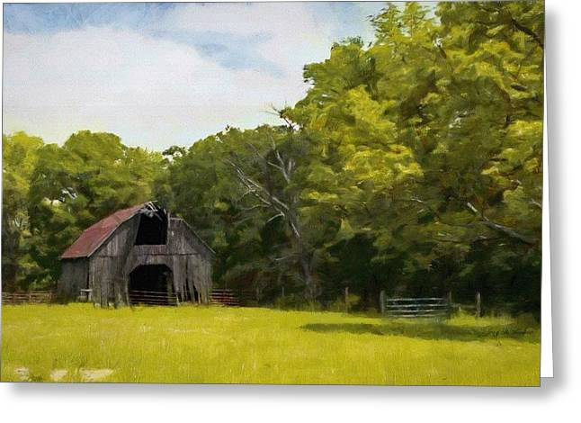 Greeting Card featuring the painting Better Days by Jeff Kolker