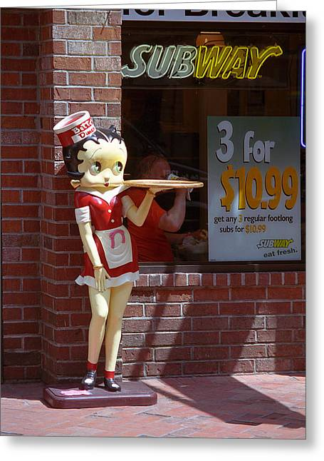 Betty Boop 1 Greeting Card by Frank Romeo