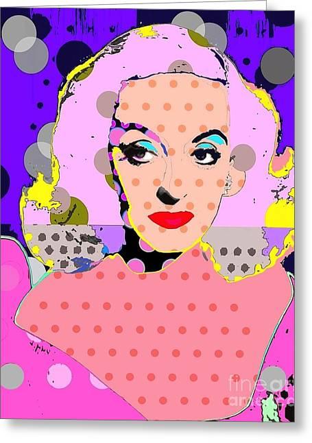 Betty Davis Greeting Card by Ricky Sencion