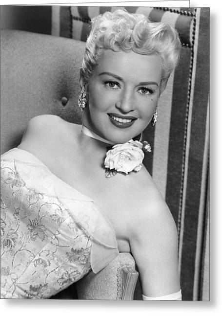 Betty Grable In How To Marry A Millionaire  Greeting Card