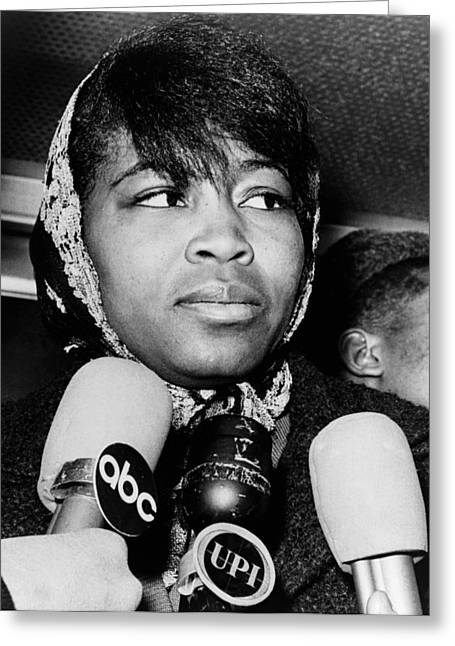 Betty Shabazz (1934-1997) Greeting Card by Granger