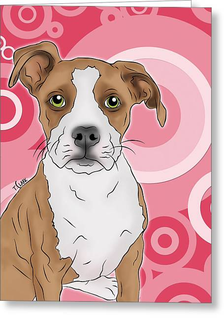 Betty The Boxer Greeting Card by Tony Clark