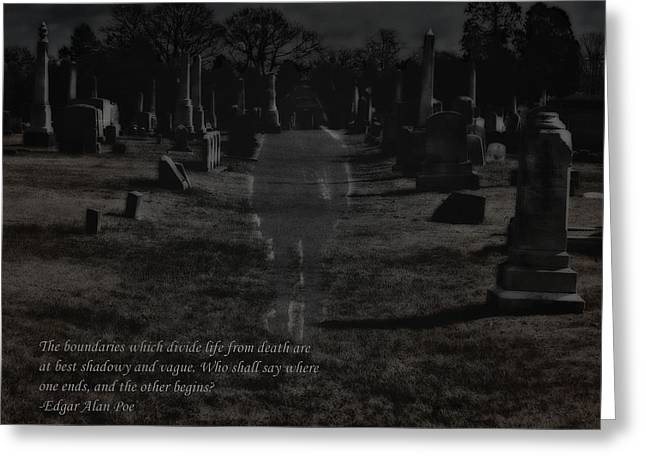 Between Life And Death Greeting Card