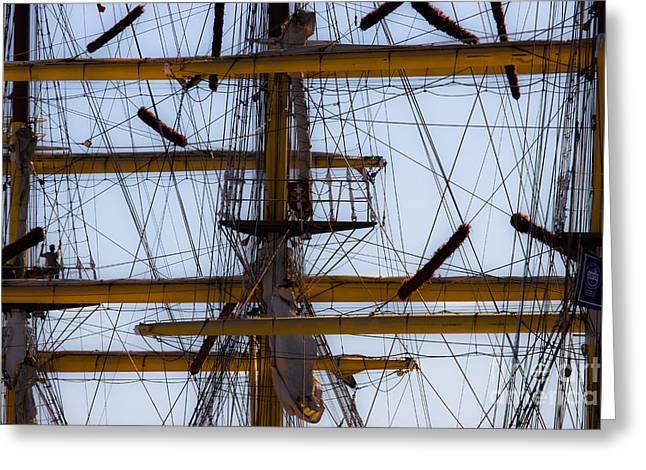 Between Masts And Ropes Greeting Card