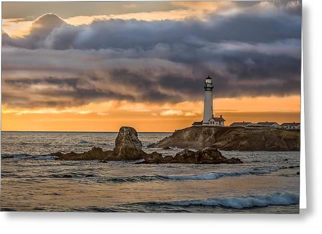 Between Storms Greeting Card by Linda Villers