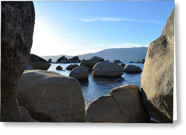 Between The Rocks At Lake Tahoe Greeting Card by Alex King