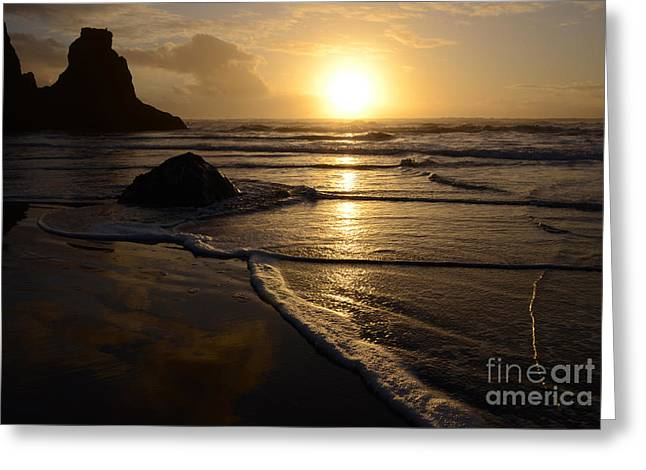 Beauty Of Oregon Bandon Beach 4 Greeting Card by Bob Christopher