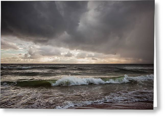 Beverly Beach Storm Greeting Card