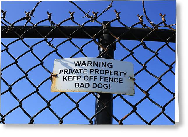 Beware Sign Greeting Card by John Ricard jr