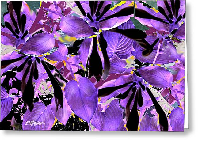 Greeting Card featuring the digital art Beware The Midnight Garden by Seth Weaver