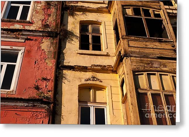 Beyoglu Old Houses 01 Greeting Card
