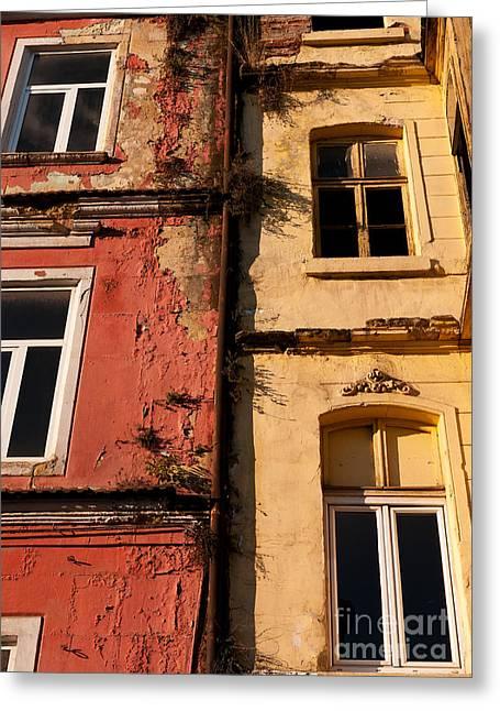 Beyoglu Old Houses 02 Greeting Card