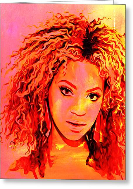 Beyonce Greeting Card by Brian Reaves