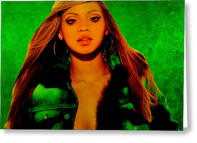Beyonce II Greeting Card by Brian Reaves