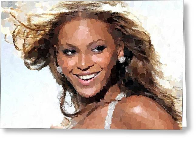 Beyonce Portrait Greeting Card