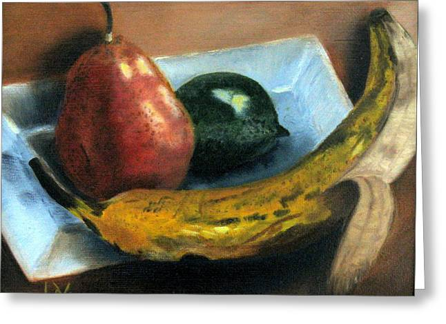 Greeting Card featuring the painting Beyond Banana Nut Bread by LaVonne Hand