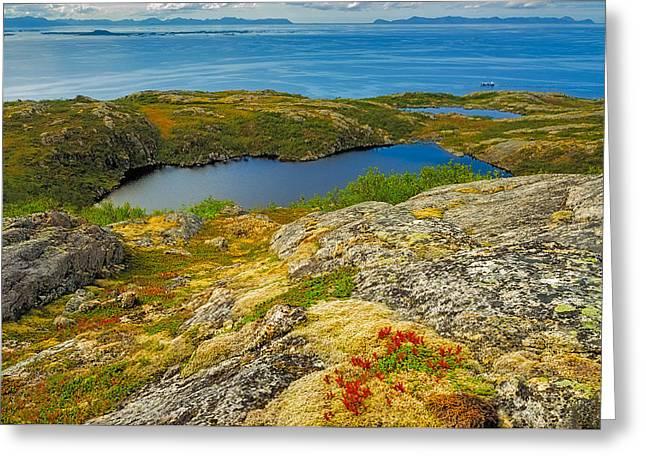 Beyond The Arctic Circle Greeting Card by Maciej Markiewicz
