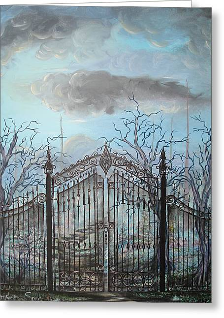 Beyond The Iron Gates Greeting Card