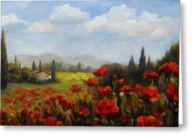 Beyond The Poppies Greeting Card