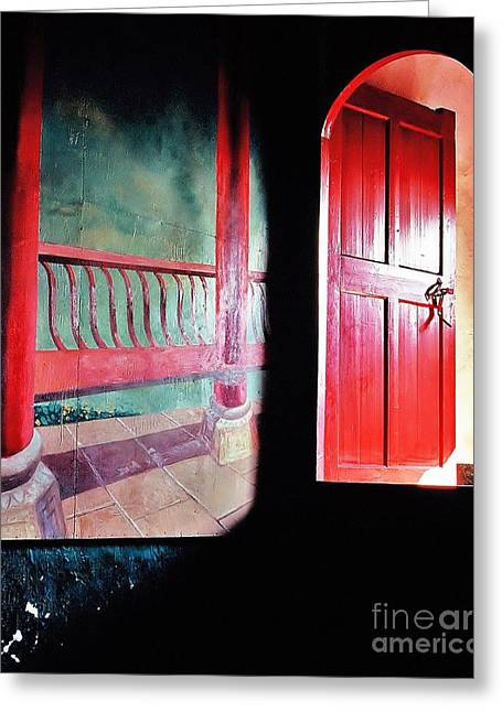 Beyond The Red Door Greeting Card by Ronnie Glover