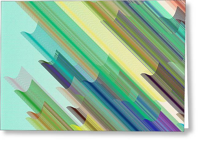 Bezier Tubes Greeting Card