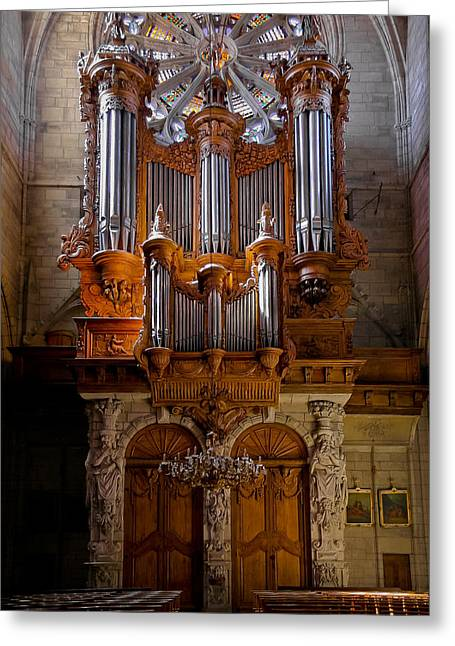 Beziers Pipe Organ Greeting Card