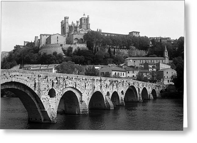 Beziers Pont Vieux Greeting Card