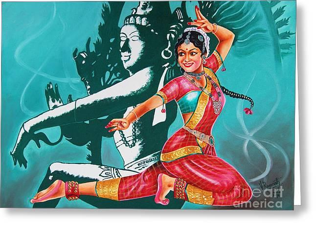 Bharatanatyam Greeting Card