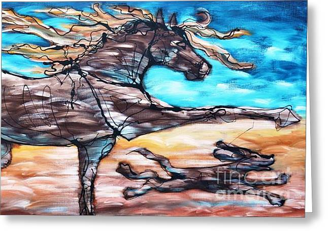 Bhound To Get There Greeting Card by Jonelle T McCoy