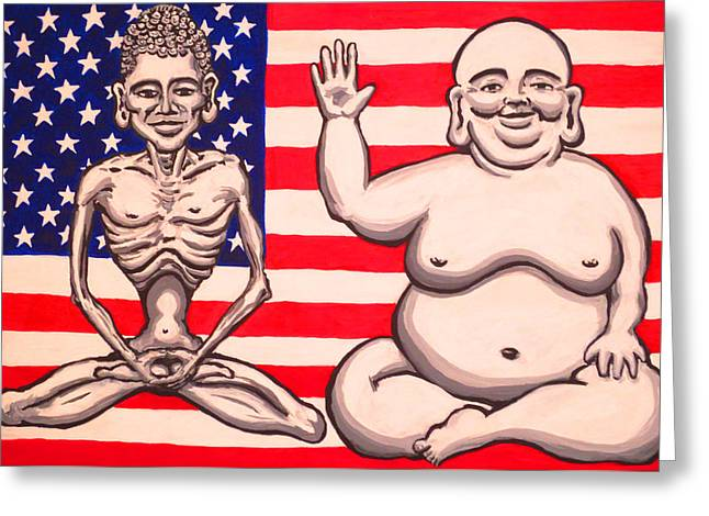 Bi-polar Buddha Greeting Card by Nathan Winsor