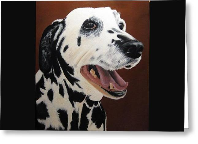 Bianca Rob's Dalmatian Greeting Card