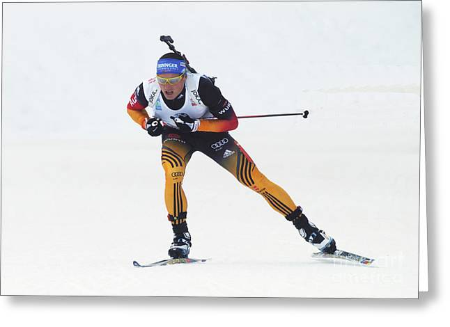 biathlete Erik Lesser Germany Greeting Card