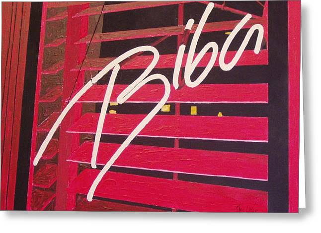 Biba Greeting Card by Paul Guyer