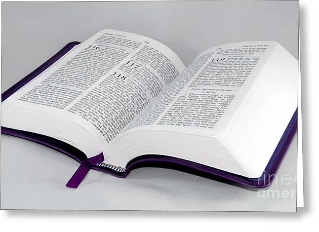 Bible Open To Psalm 118 Greeting Card