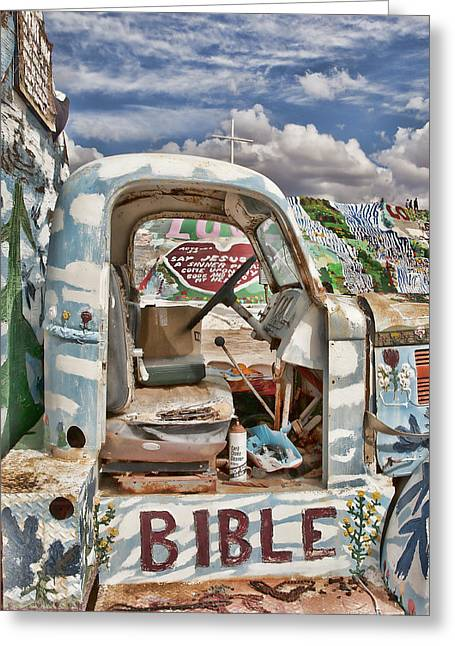 Bible Truck Greeting Card by Hugh Smith