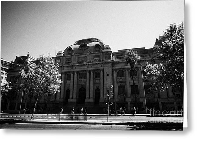 biblioteca nacional de chile national library Santiago Chile Greeting Card by Joe Fox