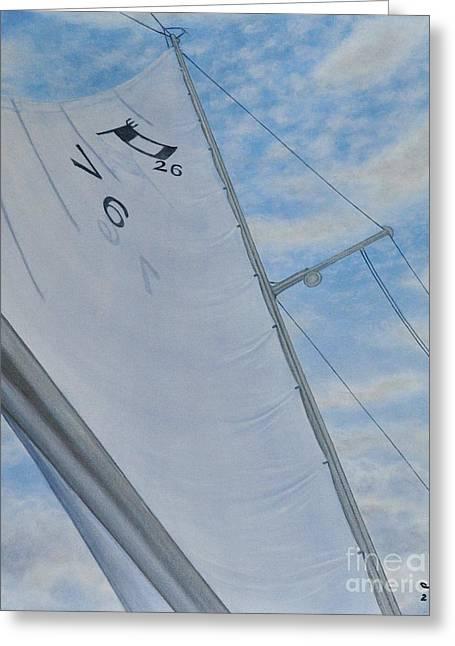 Bicentenial Sailing Greeting Card by J Barth