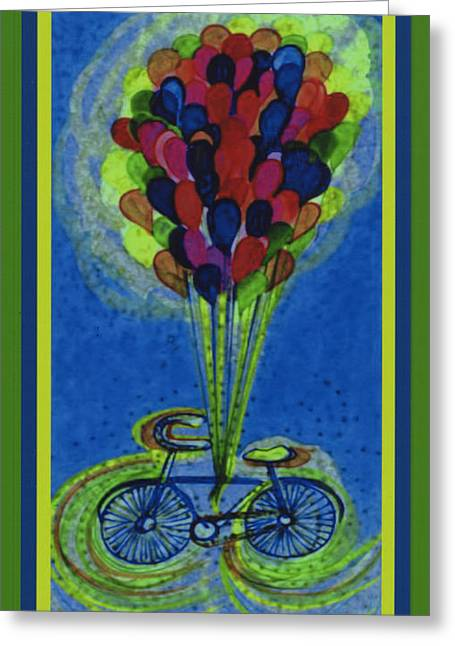 Bicycle Balloons By Jrr Greeting Card