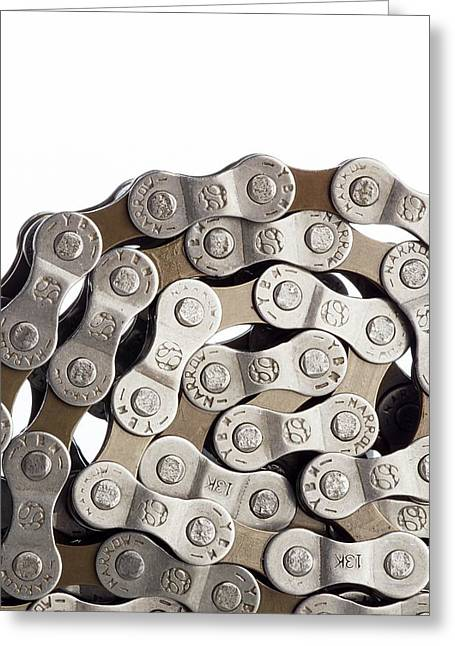 Bicycle Chain Coiled Up Greeting Card