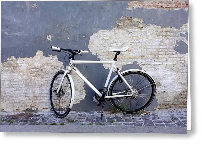 Bicycle Copenhagen Denmark Greeting Card by John Jacquemain
