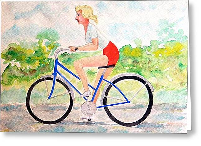 Bicycle Greeting Card by Fred Jinkins