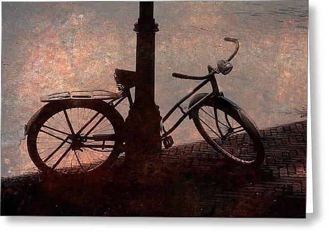 Bicycle Greeting Card by John Cardamone