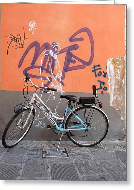 Bicycle Laspezzia Italy Greeting Card