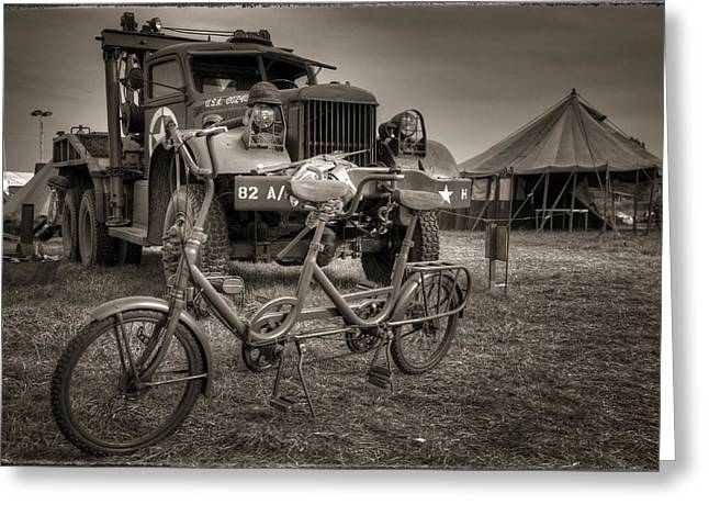Bicycle Made For Two Greeting Card by Jason Green