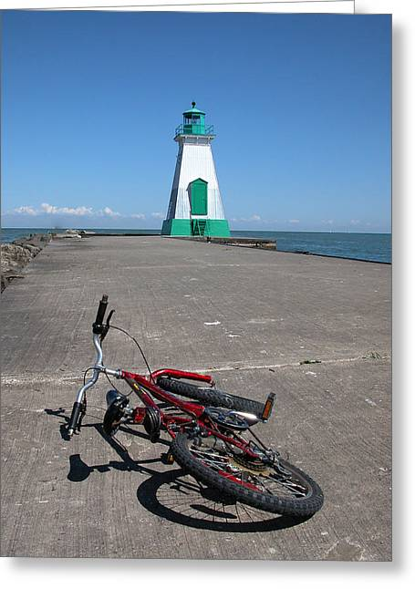 Bicycle Port Dalhousie Ontario Greeting Card by John Jacquemain