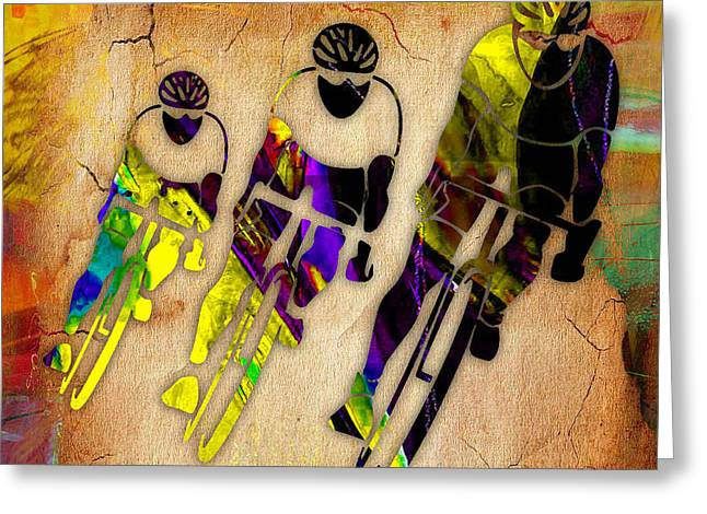 Bicycle Racings Greeting Card by Marvin Blaine