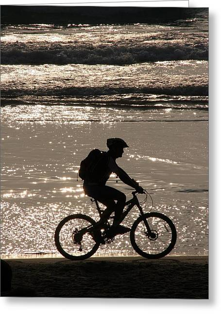 Bicycle Rider Greeting Card