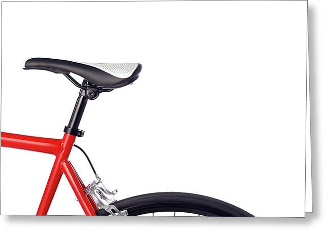 Bicycle Saddle Greeting Card by Science Photo Library