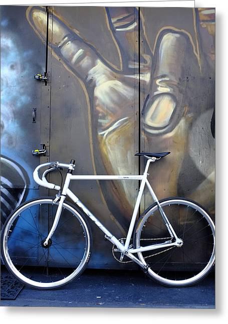 Bicycle Toronto Ontario Greeting Card by John Jacquemain